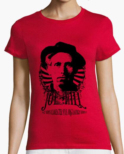 Camiseta de mujer roja - joe hill