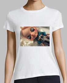 Camiseta de muñeca Blythe Jecci customizada. Shara.
