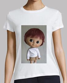Camiseta de muñeca Mui chan con peluca bob