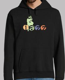 camiseta de músico de jazz