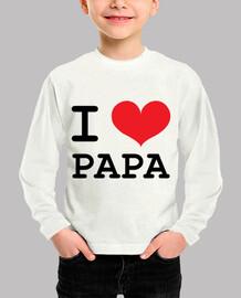 camiseta de niño: amo al papá
