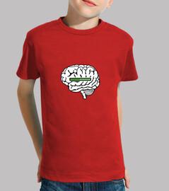 camiseta de niño con carga cerebral