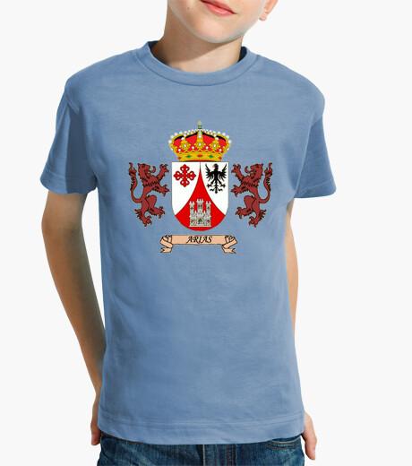 Ropa infantil Camiseta de niños Escudo Apellido Arias