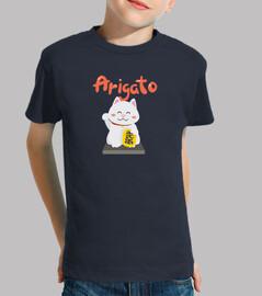 Camiseta de niños Kawaii gato japonés
