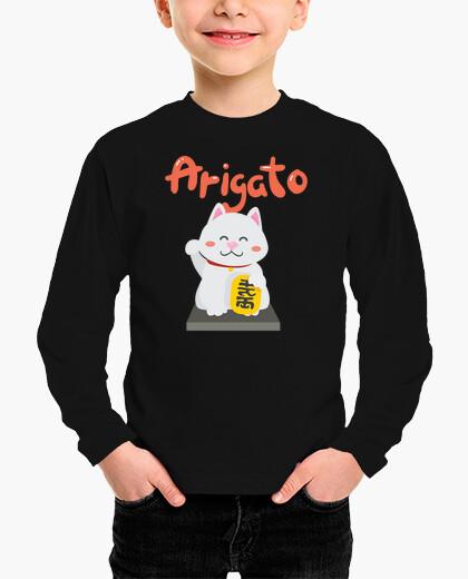 Ropa infantil Camiseta de niños Kawaii gato japonés
