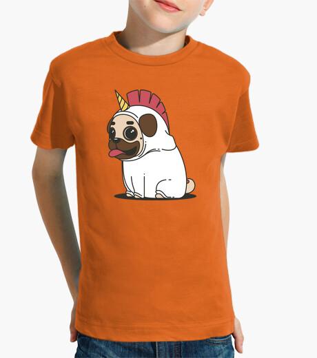 Ropa infantil Camiseta de niño Perro Carlino Unicornio Pug