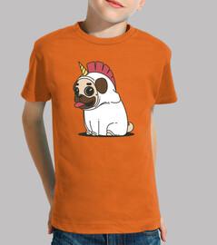 Camiseta de niño Perro Carlino Unicornio Pug