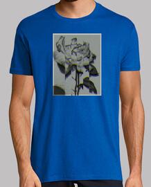 camiseta de pico de rosa 3D distorsionada trapper modelo primero
