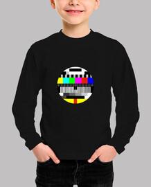 camiseta de prueba de tv para niños