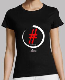 camiseta de punk y rock: hashtag
