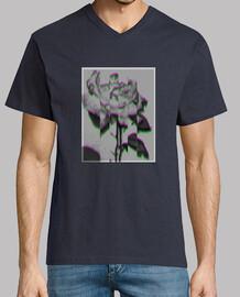 Camiseta de rosa 3D distorsionada trapper modelo tercero