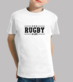 camiseta de rugby infantil, manga corta, blanco