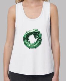 camiseta de tirantes blanca mujer Quetzalcóatl