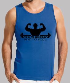 Camiseta de tirantes de culturismo natural, azul royal