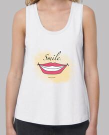 Camiseta de tirantes mujer Smile.