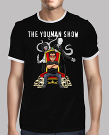 Camiseta de youman trono con slenderman y jeff the killer