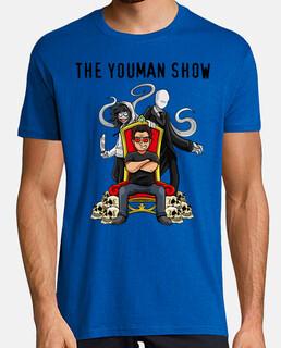 Camiseta de youman trono con slenderman y jeff the killer