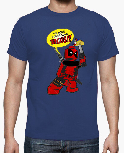 Camiseta Deadpool Tacos Azul royal