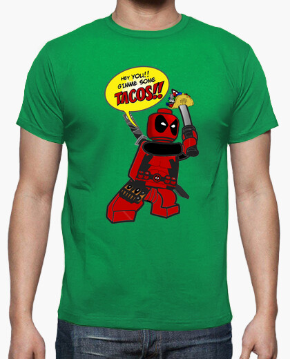 Camiseta Deadpool Tacos verde