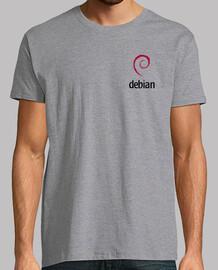 Camiseta Debian Logo Oficial + Logo Gigante