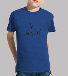 camiseta del niño de la ballena