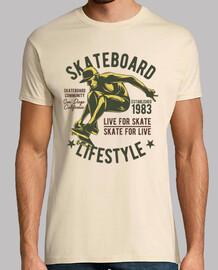 Camiseta Deportes Skateboard 1983 Skate