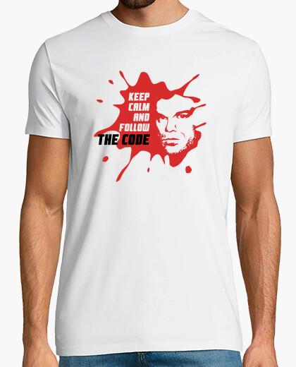 Camiseta Dexter: Keep calm and follow the...