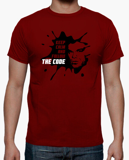 Camiseta Dexter: Keep calm and follow the code