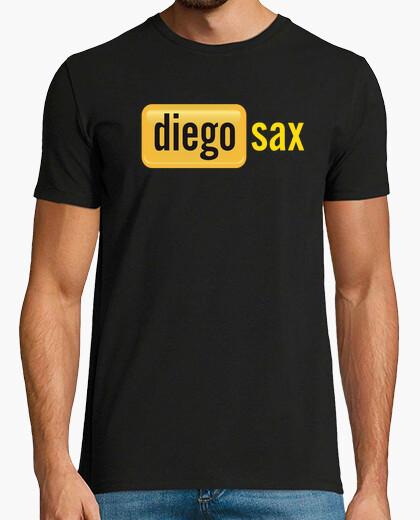 Camiseta diegosax Chico, manga corta, negra, calidad extra