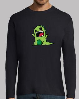 Camiseta Dinosaur Manga larga Hombre