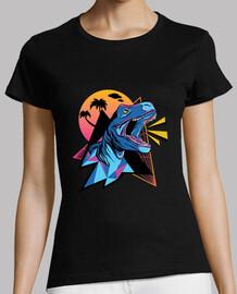 Camiseta Dinosaurio neón