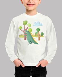 Camiseta dinosaurio para niños