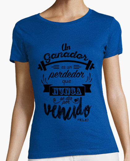 Camiseta Diseño Un ganador chica sin mangas
