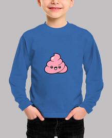camiseta divertida de los niños de la caca de kawaii