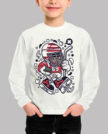 Camiseta Divertida Hockey Hielo Cartoon