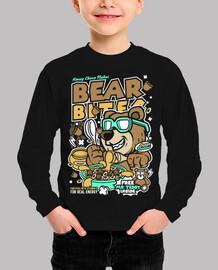 Camiseta Divertida Juvenil Cartoon Oso