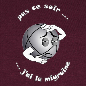 Tee-shirts camiseta divertida petanca migraña oscu