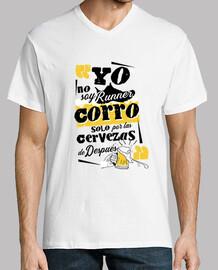 Camiseta divertida running cerveza