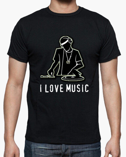 Camiseta dj i love music