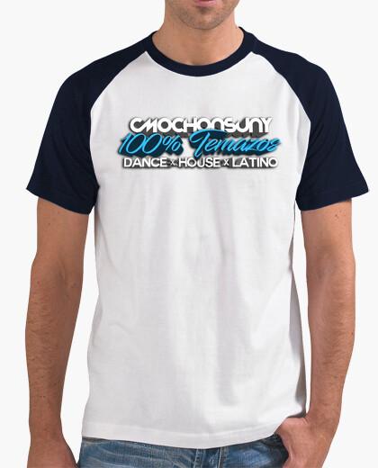 Camiseta Doble Color Azul/Blanco/Logo Temazos 3D