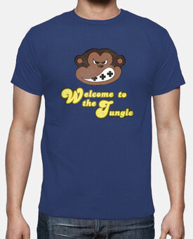 camiseta, donkey kong, welcome to the jungle