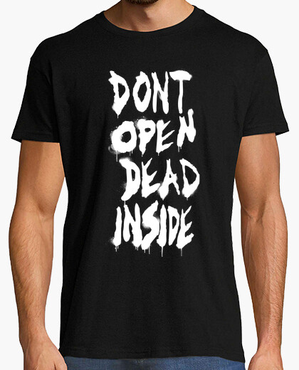 Camiseta Dont Open de The Walking Dead - Blanco Vertical