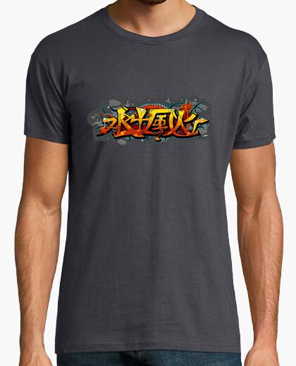 Camiseta dragón de graffiti