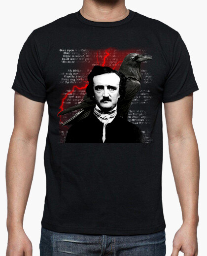 Camiseta Edgar Allan Poe Red Crow