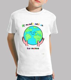 Camiseta: El mundo está en tus manos