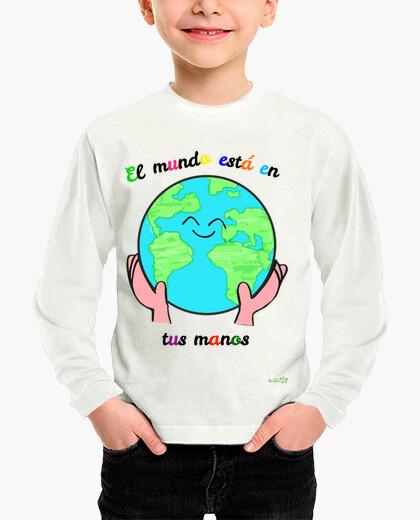 Ropa infantil Camiseta: El mundo está en tus manos