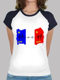 camiseta electrocardiograma de la bandera de francia 2018