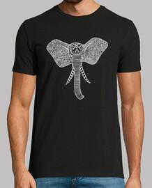 Camiseta Elefante de Frente Blanco, Hombre