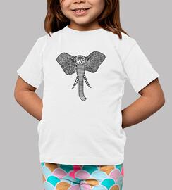 Camiseta Elefante de Frente Niñe