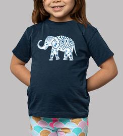 Camiseta Elefantes - Elefante azul y blanco